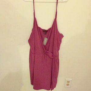 Purple Romper Dress
